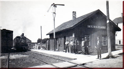 St. Cloud Railroad Station around turn of century